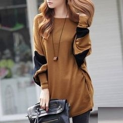 MayFair - Two-Tone Dolman Sleeve Tunic