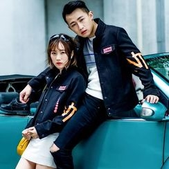 Igsoo - Couple Matching Lettering Jacket