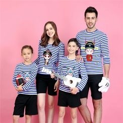 Panna Cotta - Cartoon Print Long Sleeve Family Matching T-Shirt