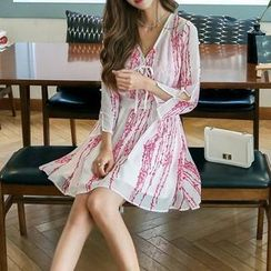 Jolly Club - Printed Chiffon Dress