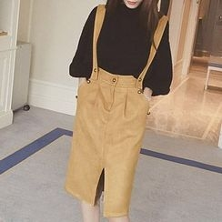lilygirl - Faux Suede Jumper Skirt