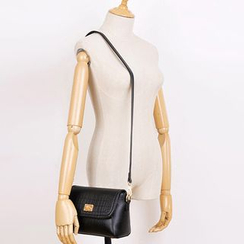 BeiBaoBao - Faux-Leather Twist-Lock Cross Bag