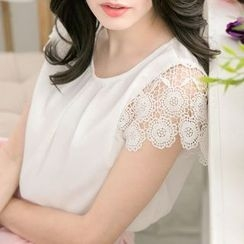 Tokyo Fashion - Lace-Sleeve Top
