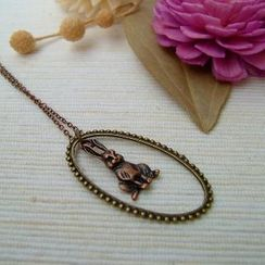 MyLittleThing - Teardrop Bunny Necklace