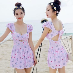 LANYI - Unicorn Print Swimdress