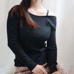 Ivena - Cutout-Shoulder Knit Top