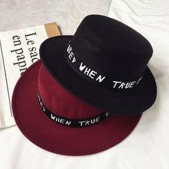Pompabee - Letter Wool Fedora Hat