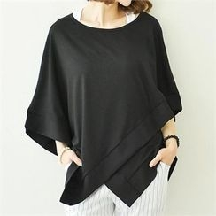 GLAM12 - Asymmetric Oversized T-Shirt