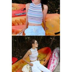 migunstyle - Striped Cropped Top