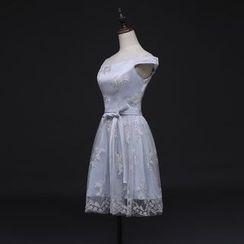 Gracia - Off-Shoulder Lace Bridesmaid Dress