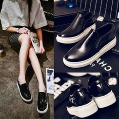 Kireina - Faux-Leather Slip-Ons