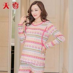 Megumi - 孕妇图案睡衣套装