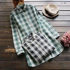 YOYO - 長袖格子襯衫