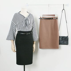 KANAMI - Knit Pencil Skirt
