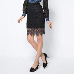 O.SA - Lace Pencil Skirt