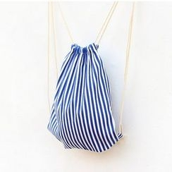 Bags 'n Sacks - Striped Drawstring Backpack