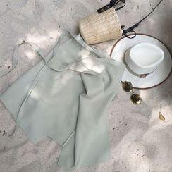 MATO - Asymmetric Wrap Midi Skirt
