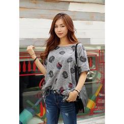 REDOPIN - Cotton Blend Print T-Shirt