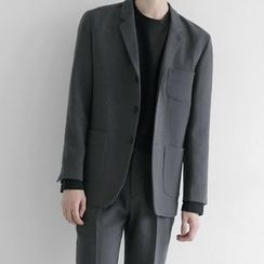 Seoul Homme - Three-Button Single-Breasted Blazer