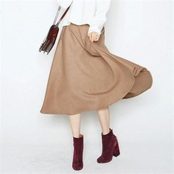 MAGJAY - A-Line Wool Blend Long Skirt