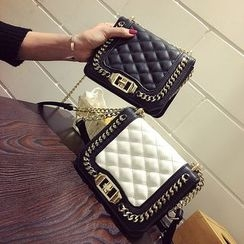 Nautilus Bags - Faux Leather Quilted Crossbody Bag