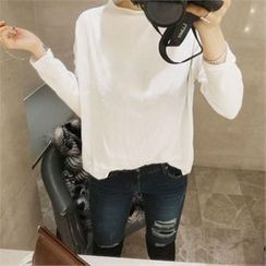 LIPHOP - Turtle-Neck Knit Top