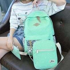 Bagolo - Dotted Canvas Backpack Set
