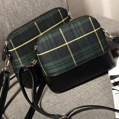 Ballerina Bags - Plaid Shoulder Bag
