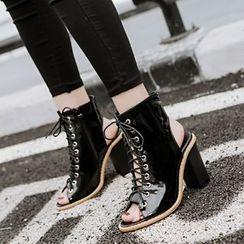 安若 - 露趾繫帶及踝靴