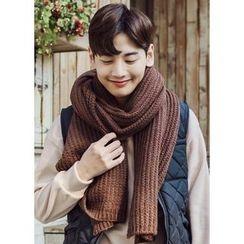 JOGUNSHOP - Rib-Knit Colored Scarf