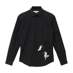 Mr. Cai - Long-Sleeve Embroidery Shirt