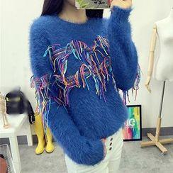 Polaris - Fringed Chunky Sweater