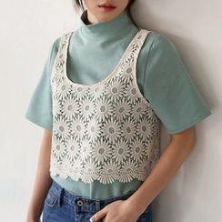Seoul Fashion - Sleeveless Crochet Top