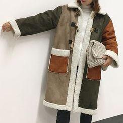 Cloud Nine - Color Block Toggle Coat