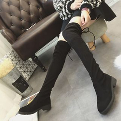 Sofree - Hidden Wedge Over-the-Knee Boots