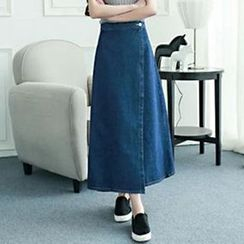 BOHIN - Denim Wrap Maxi Skirt