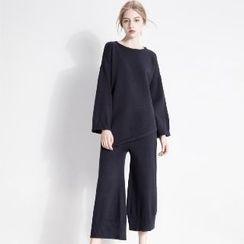 Halona - Set: Knit Top + Pants