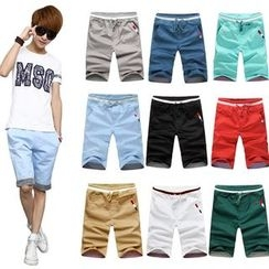 Peibo - Drawstring-Waist Shorts