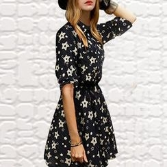 Isadora - Elbow-Sleeve Floral Dress