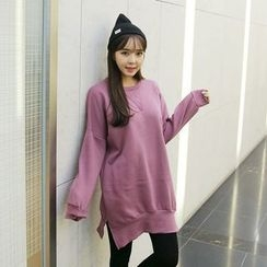 Envy Look - Brushed-Fleece Lined Mini Pullover Dress