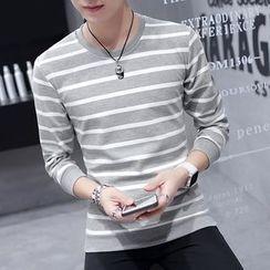 Fusuma - Striped Pullover