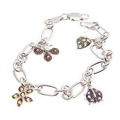 Bellini - World of Insect Semi-Precious Studded  Bracelet