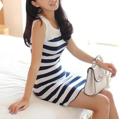 Dowisi - Stripe Sleeveless Dress