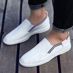 Hipsteria - 撞色平底套脚鞋