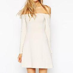 Rebecca - Off-Shoulder A-Line Dress