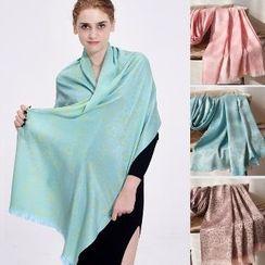 羚羊早安 - 流苏图案围巾