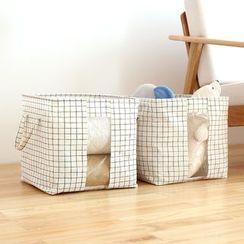 Lazy Corner - Check Storage Basket
