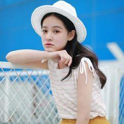 Hanayoshi - Sleeveless Striped Top