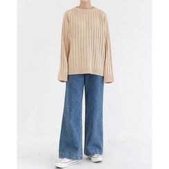 Someday, if - Crew-Neck Rib-Knit Top