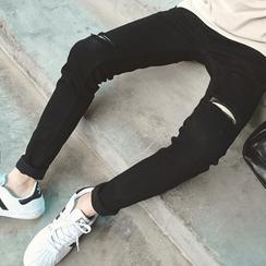 Soulcity - 仿旧修身牛仔裤